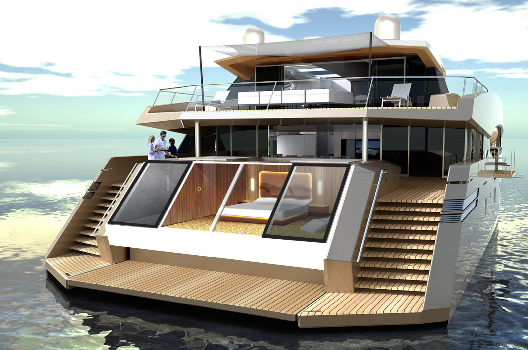 115 Sunreef Power Catamaran Super Yacht