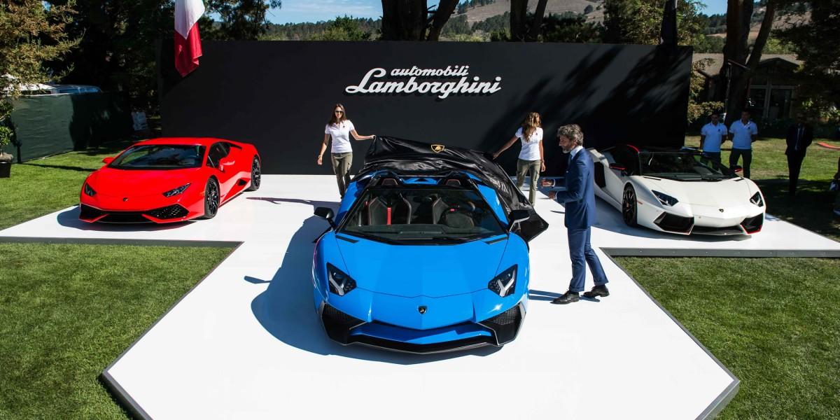 Debut of Lamborghini Aventador Superveloce in California