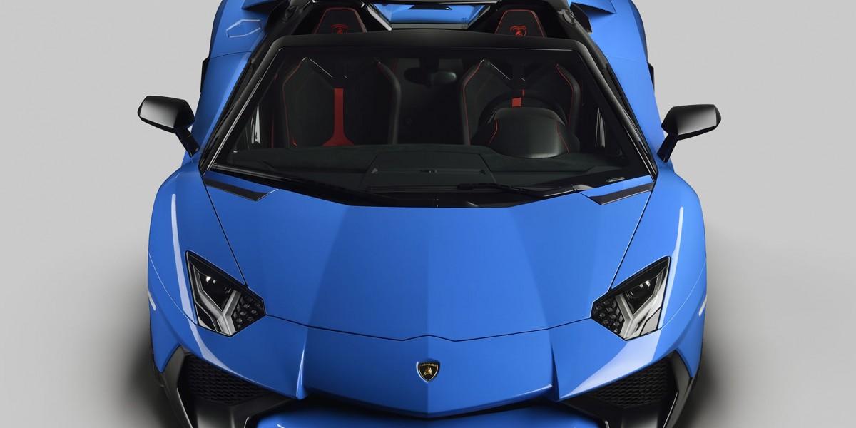 Lamborghini Aventador 750bhp SV Top Front View