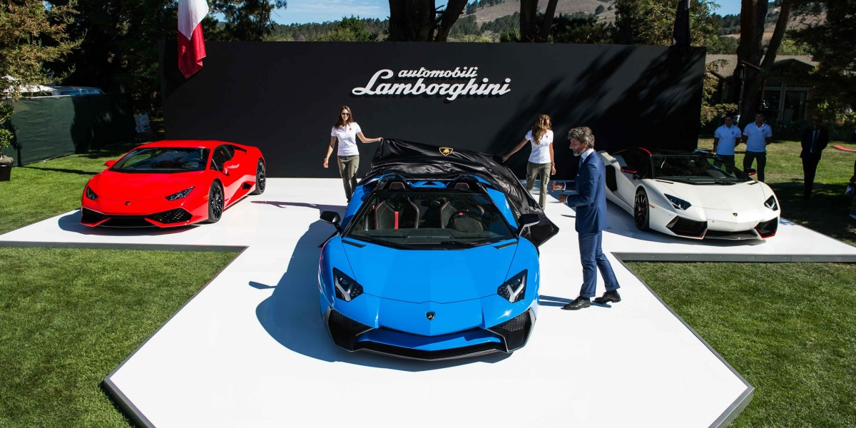 Debut of Lamborghini Aventador Superveloce in California