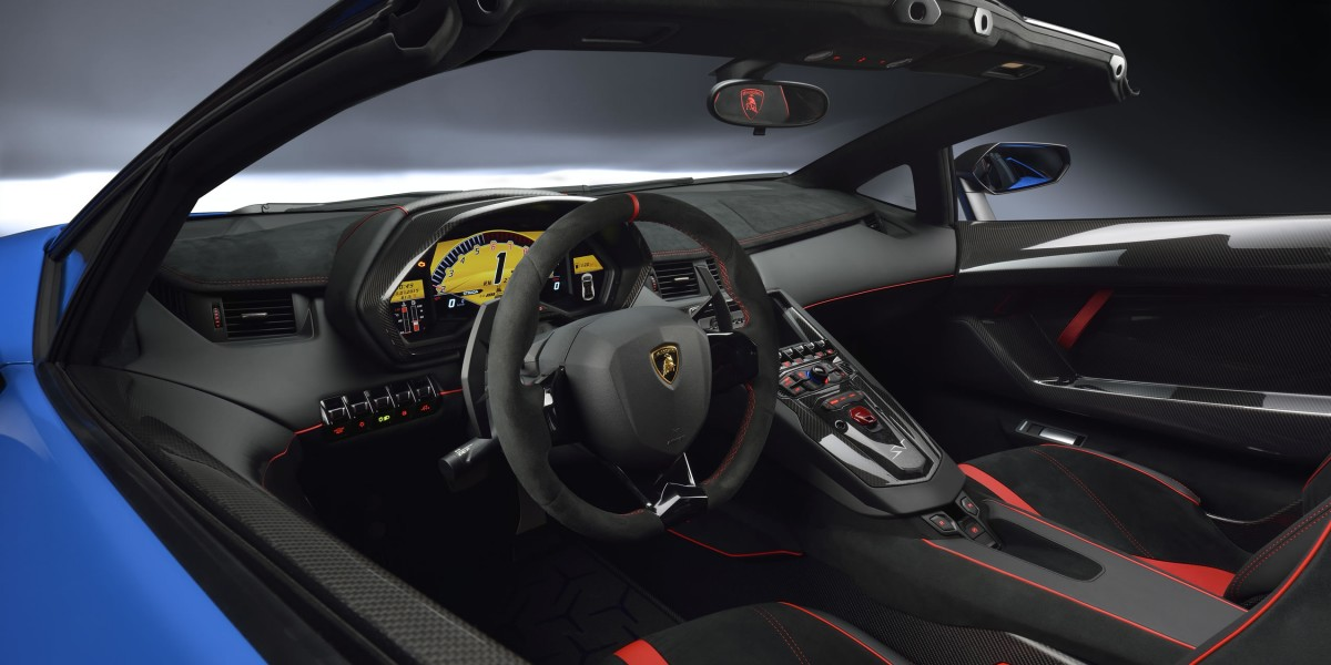Lamborghini Aventador Superveloce Interior Driver's Cockpit