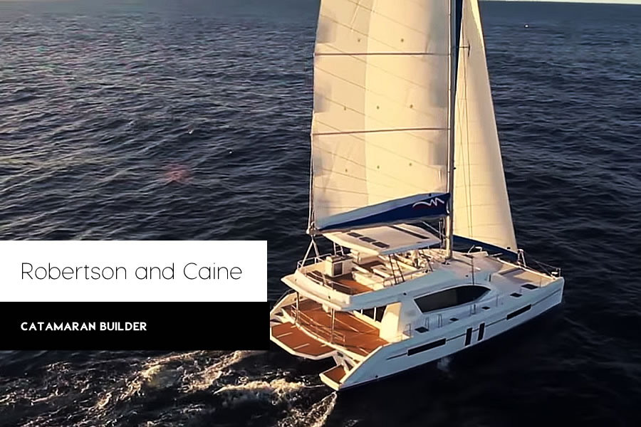 Yachting: Robertson and Caine Catamaran Builder