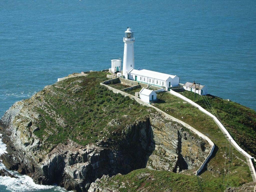 Lighthouse in Anglesey, North Wales