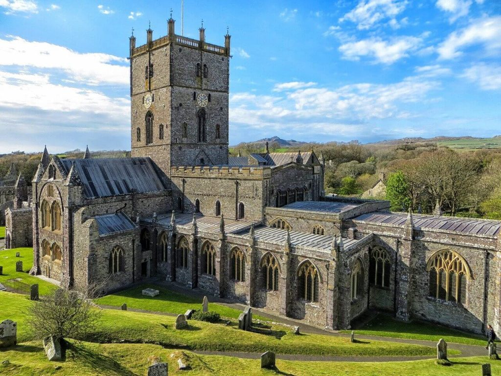 Photo of St David's Cathedral in Pembrokeshire, Wales